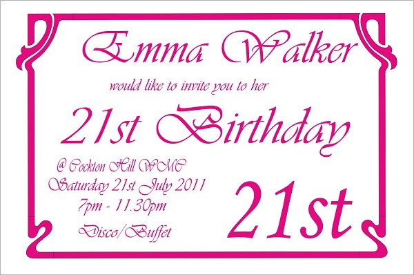 Emma Walker 21st Birthday