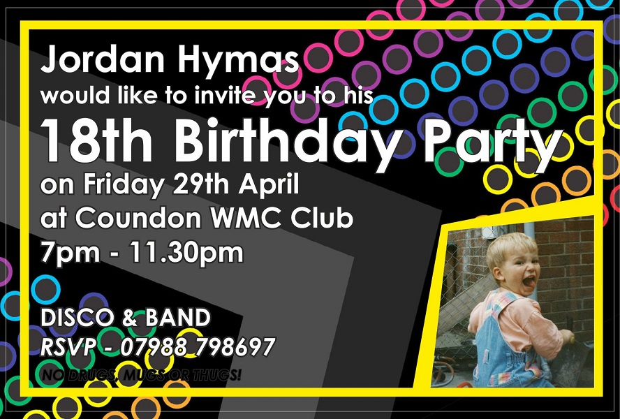 Jordan Hymas 18th Birthday